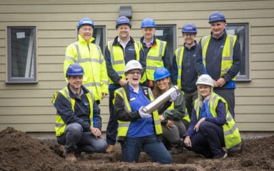 Mystery time capsule buried at Cats Protection's new Wrexham Adoption Centre
